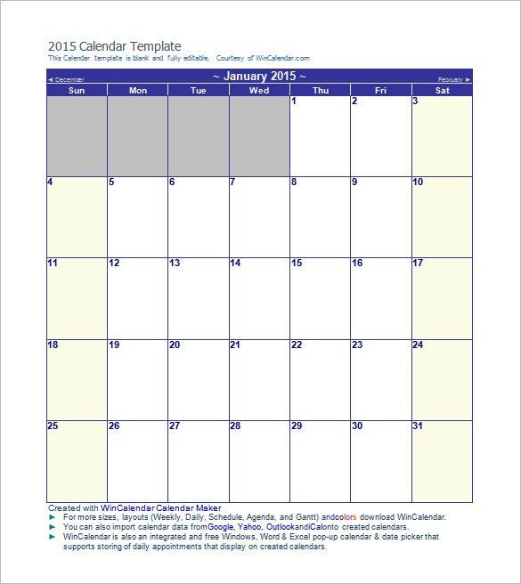 Calendar Template - 41+ Free Printable Word, Excel, PDF, PSD ...