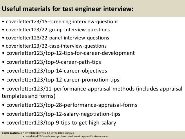 software test engineer cover letter. avionics test engineer cover ...