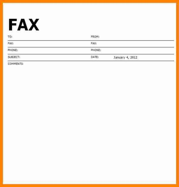 8+ blank fax cover sheet template word | job resumed