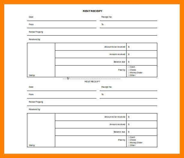 7+ free rental receipt template | packaging clerks