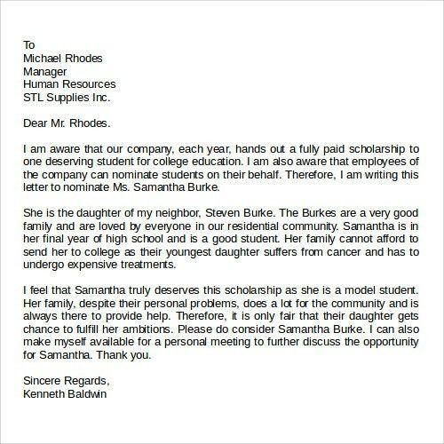 Recommendation Letter Format Samples. Reference Letter Template ...