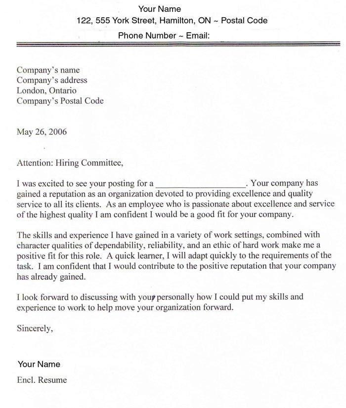 sample cover letter for job sample cover letter for job in how to ...
