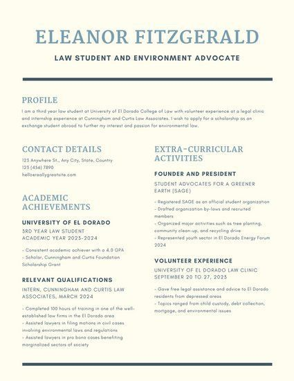 Dark Blue Simple Line Scholarship Resume - Templates by Canva