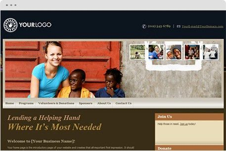 Non-Profit Organization Website Design, Non-Profit Organization ...
