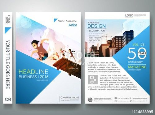Brochure design template vector.Business flyers report magazine ...
