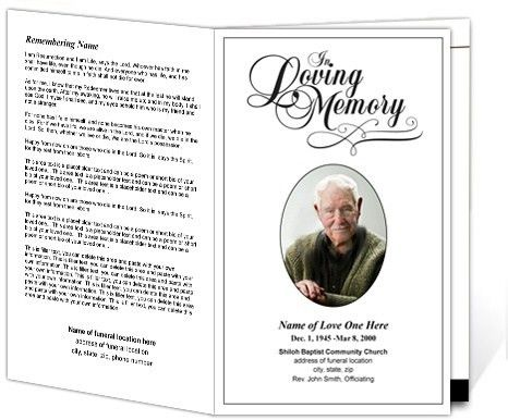 memorial service programs sample | Printable Funeral Programs ...