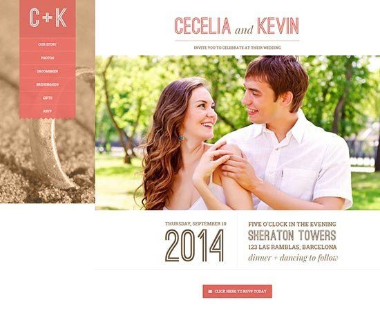 70+ Best Wedding Website Templates Free & Premium - freshDesignweb