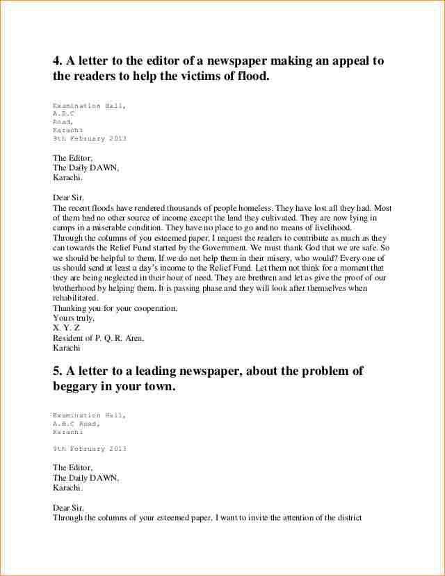 A formal letter to the editor sample - Business Proposal Templated ...