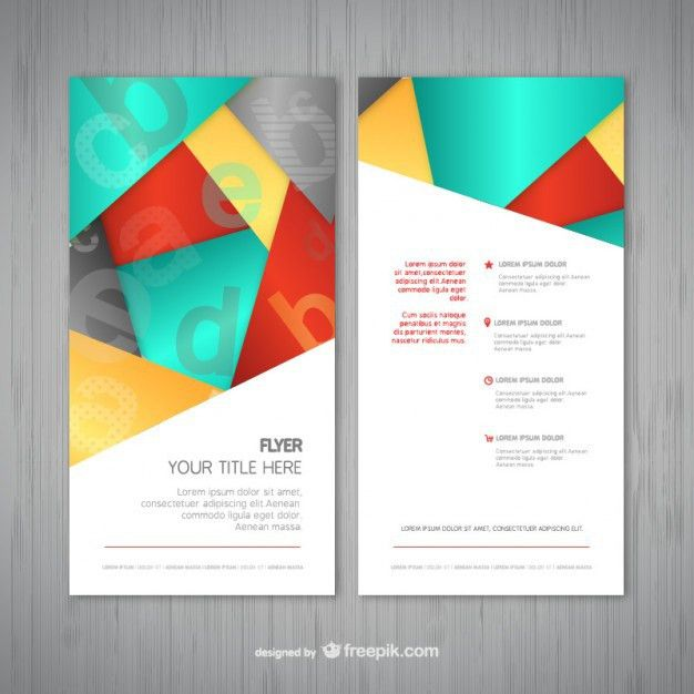 Abstract flyer template Vector | Free Download