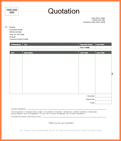 Quote Format In Word 11 Ms Word 2010 Format Quotation Templates – Quotation Format Template