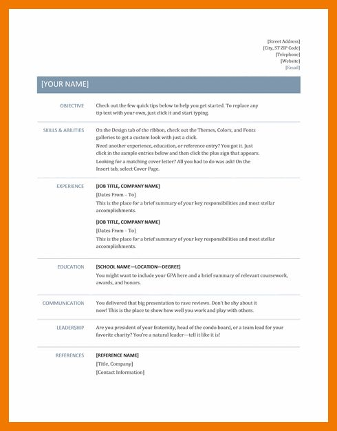 4+ best resume format 2017 | mailroom clerk