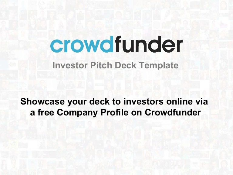 The Ultimate Investor Pitch Deck Template