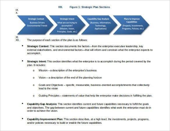 Free Sample Strategic Plan Template | Templates.csat.co