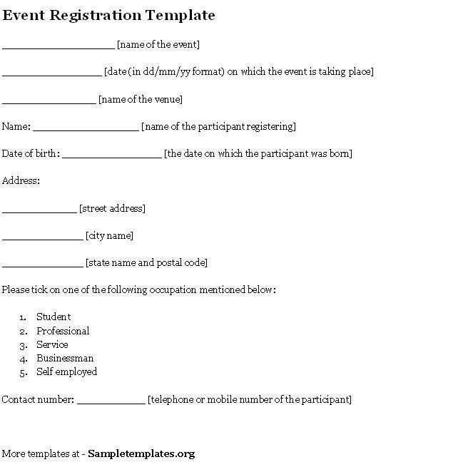 Remarkable Registration Form Template Word And Sports : Vlcpeque