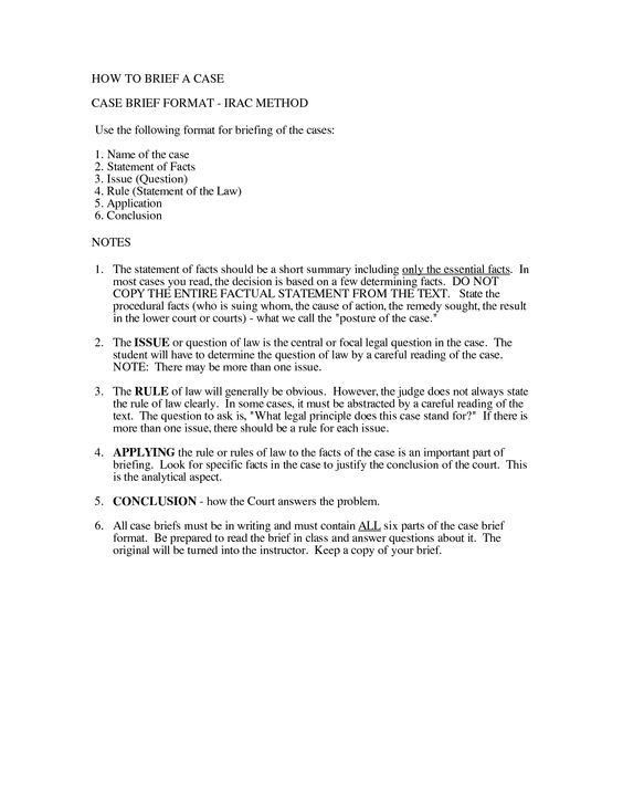 Irac Format Example | Paralegal | Pinterest | Paralegal, Law ...
