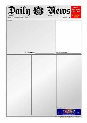 Newspaper Writing Frames and Printable Page Borders KS1 & KS2 ...