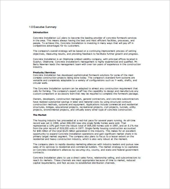 Business Marketing Plan Template – 10+ Free Sample, Example ...