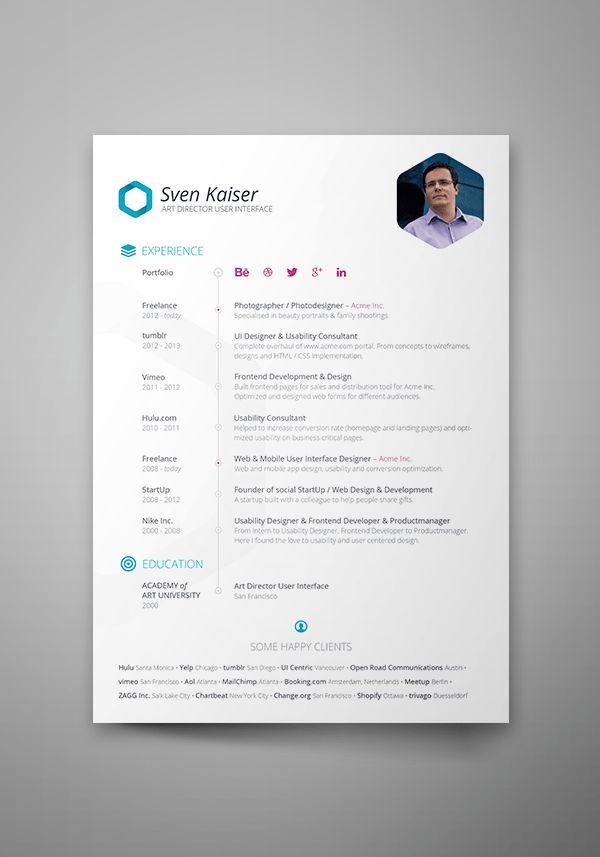 creative resume template for word us letter by landeddesignstudio ...