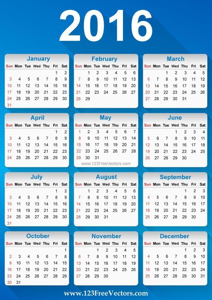 86 best 2016 Calendar Template images on Pinterest   Corporate ...