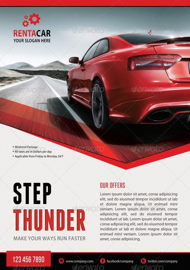 15 best car images on Pinterest | Flyer template, Flyer design and ...