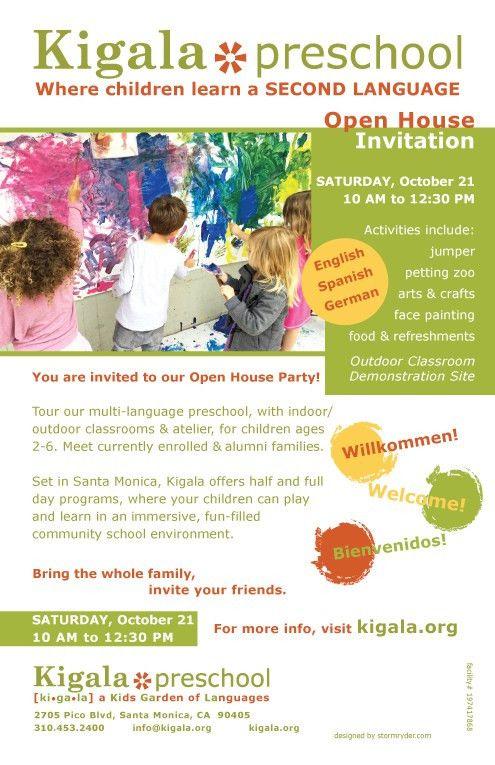 Oct 21 Open House Invitation 2017 - Kigala Preschool