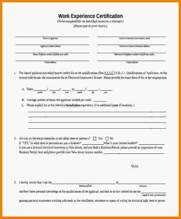 Work Certificate Format Work Certificate Template  Free Word Pdf