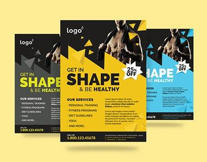 Fitness / Gym Flyer Template on Behance