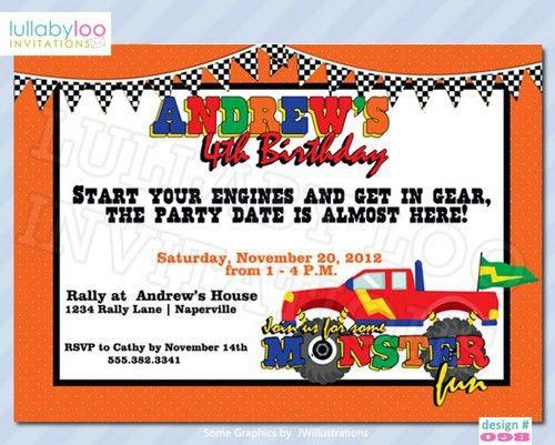 Truck Birthday Invitations | badbrya.com