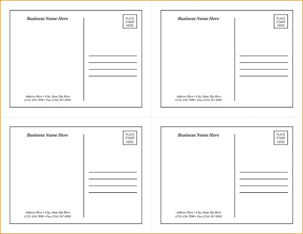 5+ word postcard template | Outline Templates