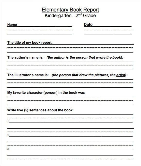 9+ Book Report Templates - Free Samples , Examples , Format