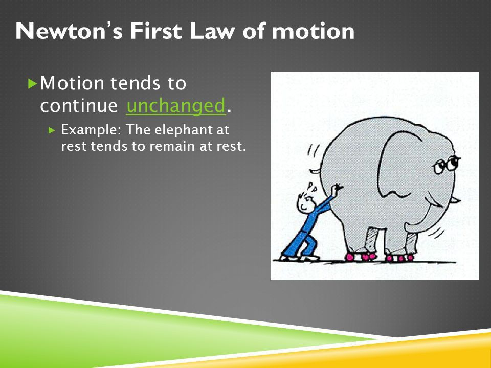 CHAPTER SIX: LAWS OF MOTION  6.1 Newton's First Law  6.2 ...