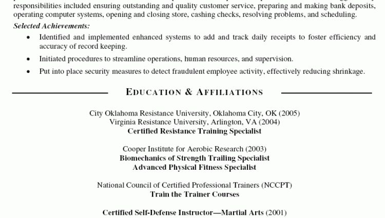 Personal Trainer Resume personal trainer jobs on yachts ...