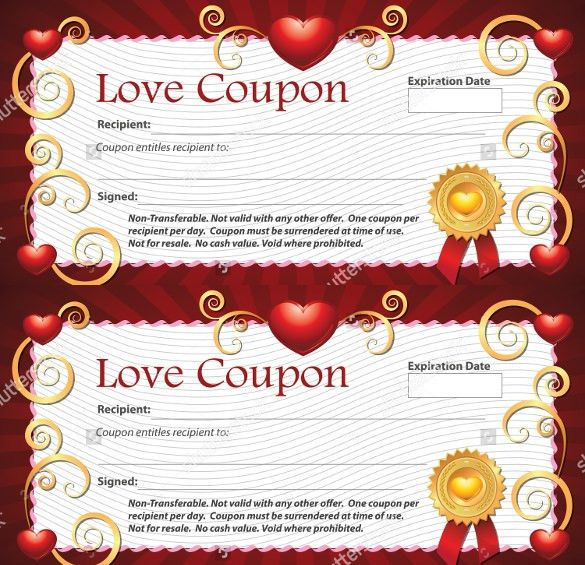 Love Coupon Template – 26+ Free PSD, AI, EPS, PDF Format Download ...