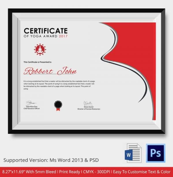 Award Certificate Template -15+ Free Word, PDF, PSD Format ...