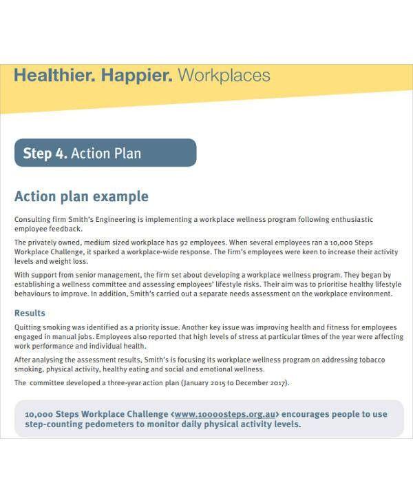 Training Action Plan Templates - 6+ Free Word, PDF Format Download ...