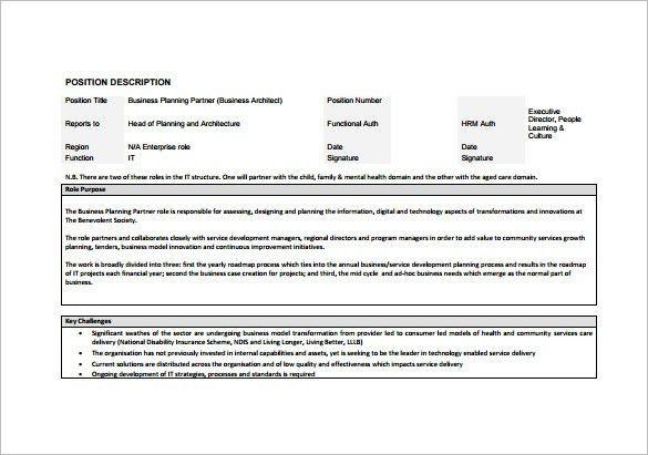 10+ Architect Job Description Templates U2013 Free Sample, Example .
