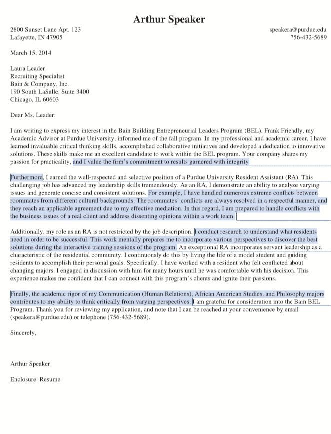 Purdue Cover Letter - My Document Blog