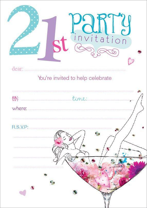21st Birthday Invitation | Henderson Greetings - henderson ...