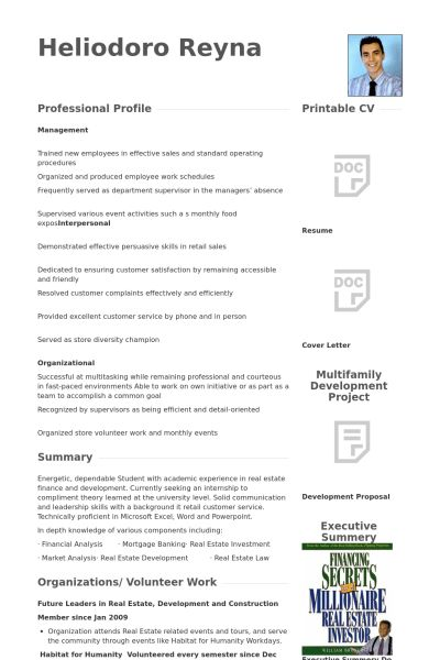 Cook Resume samples - VisualCV resume samples database