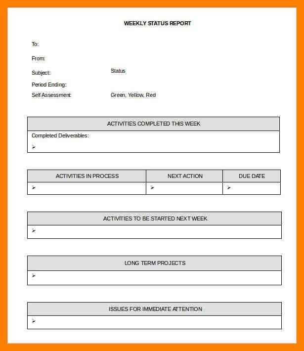 8+ weekly report template | student resume template