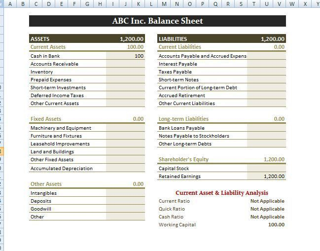 Our flexible balance sheet template is a smart way to track your ...