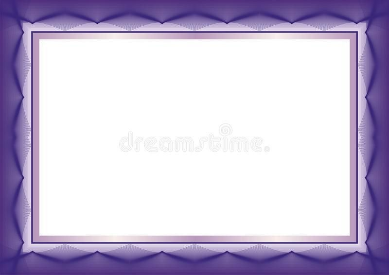 Purple Certificate Or Diploma Template Frame - Border Stock Vector ...