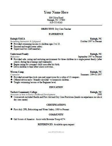 Home Health Aide Resume Template - Free Printable ...