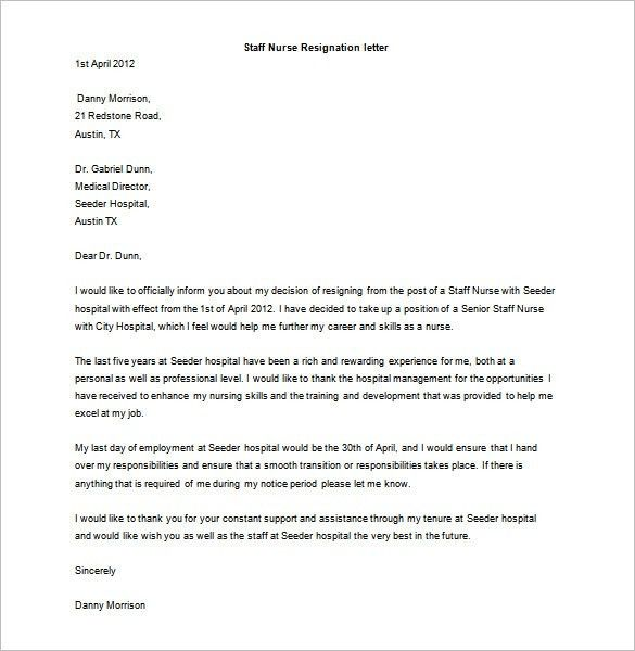 Resignation Letter Template - 37+ Free Word, PDF Format Download ...