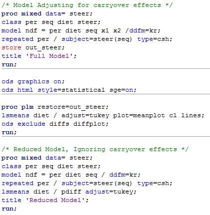13.3 - SAS Programming for Steer Example | STAT 502