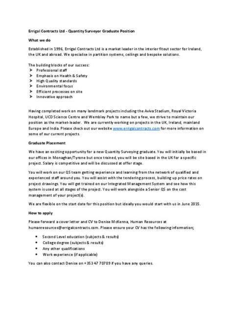 ecl graduate qs positionpdf. killer covering letter examples ...