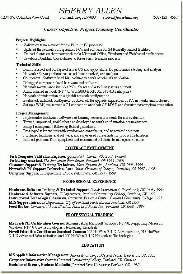 skills based resume example - Google Search | School - Business ...