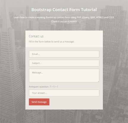 How to Create a Bootstrap Contact Form with PHP, jQuery and AJAX ...