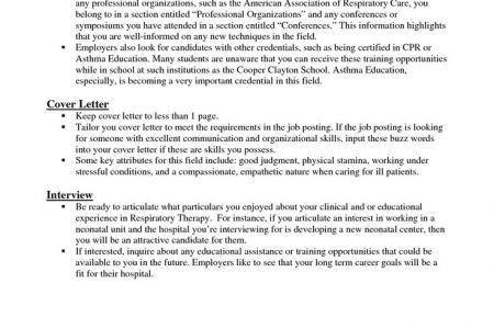 New Grad Respiratory Therapist Resume Sample, Level Respiratory ...