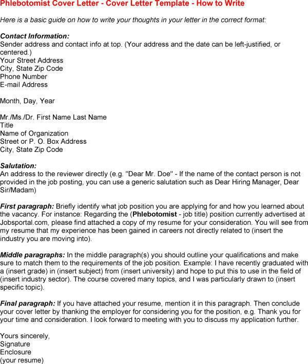 Phlebotomist Resume Sample and cover letter for Phlebotomist Cover ...